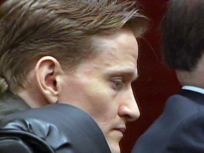 Jason Young sits in a Wake County courtroom on June 24, 2011, as jurors deliberate in his first-degree murder trial.