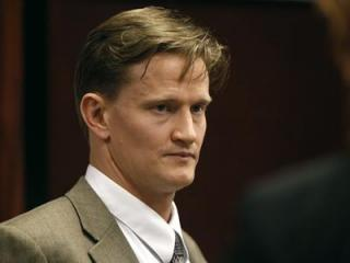 Jason Young during a recess in his retrial on Feb. 28, 2012. (Photo by Shawn Rocco, The News & Observer, Pool)