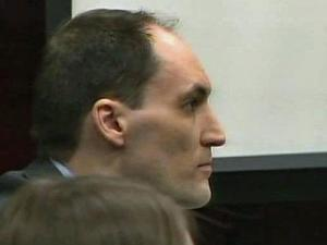 Brad Cooper sits in court on March 14, 2011, during his first-degree murder trial in the July 12, 2008, death of his wife, Nancy Cooper.