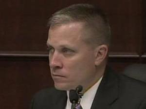 Cary police detective Jim Young testifies March 30, 2011, in the first-degree murder trial of Brad Cooper.