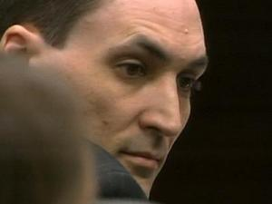 Brad Cooper, during his first-degree murder trial on May 2, 2011, is accused of killing his wife, Nancy Cooper, in July 2008.