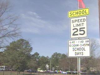 Cary School Sign