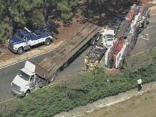 WEB ONLY: Sky 5 Coverage of U.S. 1 Wreck (unedited)
