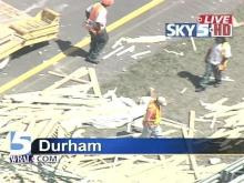 Tractor-Trailer Loses Load on I-85 in Durham