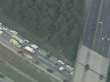 Sky 5: Accident on I-40 East in Wake County