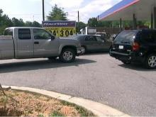 Low Gas Prices Prompt Long Lines at Raleigh Gas Pump