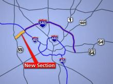 An extension of Interstate 540 called N.C. 540 extends from Interstate 40 at the Wake-Durham county line to N.C. Highway 55 in Wake County.
