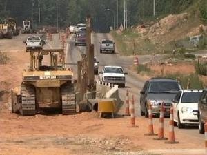 Southwest Maynard Road has been widened to complete a four-lane loop around Cary.