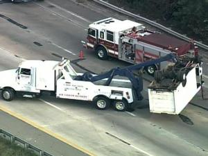 Truck Removed After I-40/440 Accident