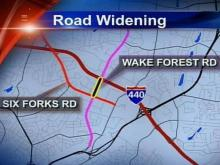 Wake Forest Road Widening Project Begins Monday Night