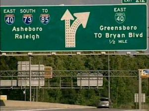 The DOT says motorists in Greensboro are complaining the new Interstate route is confusing and residents are complaining about the noise.
