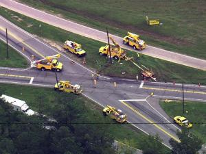 U.S. Highway 401 was closed in Franklin County on Sept. 17, 2008, after an accident involving a dump truck.