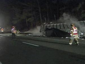 A wreck at Harrison Avenue contributed to traffic problems after an overturned garbage truck and several vehicles were involved in a wreck on Interstate 40, near Wade Avenue, shortly before 7 p.m. Monday, Jan. 26, 2009.
