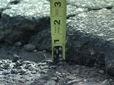Pot holes less than 1.5 inches might not be fixed because of low funding in the state Department of Transportation.