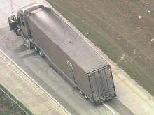 Sky 5: Wrecked truck stalls I-40 traffic