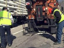 Crews begin work to repair potholes