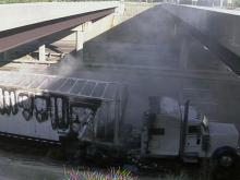 Truck fire stalls holiday traffic on I-95