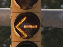 Left-turn traffic signals changing