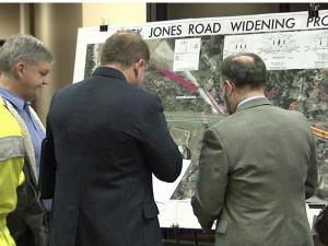Residents of Buck Jones Road in Raleigh saw a presentation on expansion plans for the road on Monday, Nov. 29, 2010.