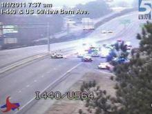 One person died in a two-vehicle wreck on Interstate 440 West, between New Bern and Brentwood avenues, early Saturday, Jan. 1, 2011.