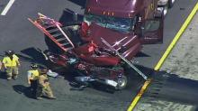 IMAGES: I-40 tractor-trailer crash