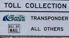 Triangle Expressway toll collection sign