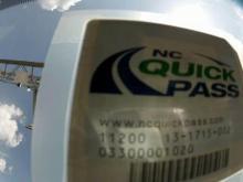 NC QuickPass sticker