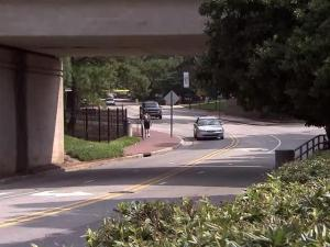 North Carolina State University plans to install an access gate on Dan Allen Drive in an effort to reduce vehicle traffic and make the are more pedestrian-friendly.
