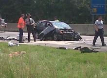 Authorities respond to a crash on Interstate 95 in Selma on Wednesday, Aug. 1, 2012.