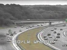 Car crash on I-40 at Lake Wheeler