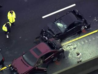 Several vehicles were involved in an Oct. 1, 2012, crash on eastbound I-40 near the Durham Freeway interchange.