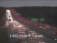 Crash slows commute on I-40 West