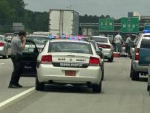 Traffic stop on Interstate 40