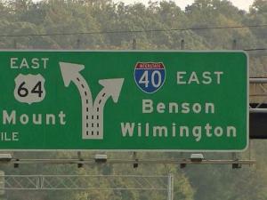 I-40 / I-440 merge in south Raleigh