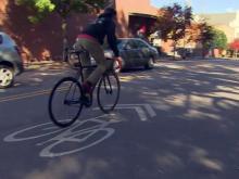 Bike lane, bicyclist