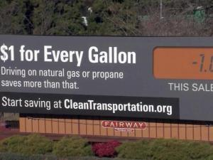 A two-year educational campaign will use billboards in 24 North Carolina counties to encourage drivers to change their habits to cut vehicle emissions.