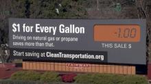 IMAGE: Billboard campaign drives point of cutting auto emissions