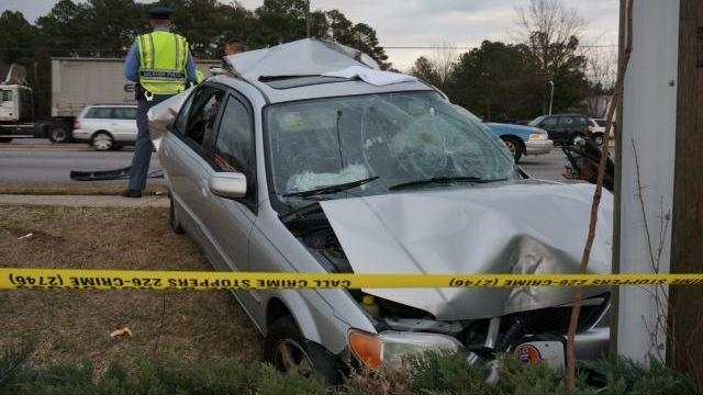 A man was rushed to the hospital and rush-hour traffic briefly delayed on Raleigh's Capital Boulevard on Jan. 21, 2014.