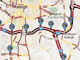 Traffic flow map