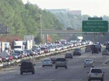 Highway traffic, traffic congestion, traffic jam, I-40 traffic
