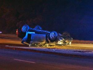 Utility crews closed the ramp from Interstate 440 West to Western Boulevard in Raleigh early Tuesday after car collided with a utility pole.