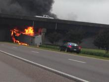 Viewer video: Truck fire on I-95