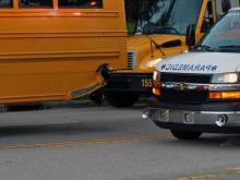 A Wake County school bus and SUV collided Friday morning near the intersection of Buffaloe Road and North New Hope Road, Raleigh police said.