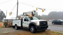 IMAGES: Crews installing new signal at intersection near Panther Creek High