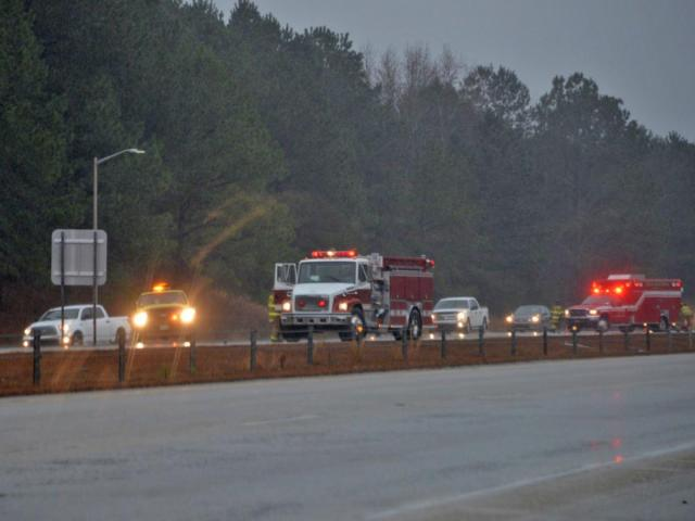A crash involving a pedestrian temporarily closed Interstate 40 in both directions Monday, Dec. 29, 2014, near a rest area north of Benson in Johnston County.