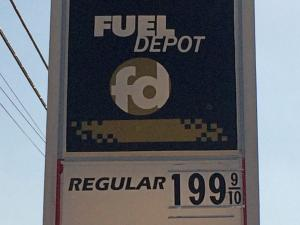 Gas was $1.99a gallon Wednesday at Fuel Depot in Garner.