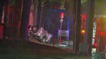 IMAGES: Man killed in early morning crash in north Raleigh