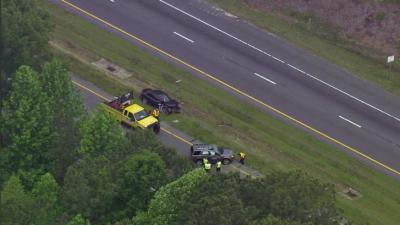 A wreck involving at least two vehicles was creating long delays Tuesday morning on northbound U.S. Highway 1 in Apex.