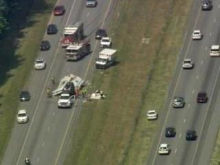 An accident in the southbound lanes close Interstate 95 Tuesday afternoon south of Roanoke Rapids.