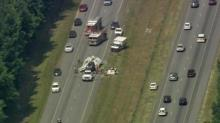 IMAGES: I-95 lanes open after Halifax County accident